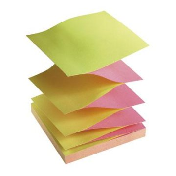Post-it Z-tömb 76×76mm  sárga/fukszia