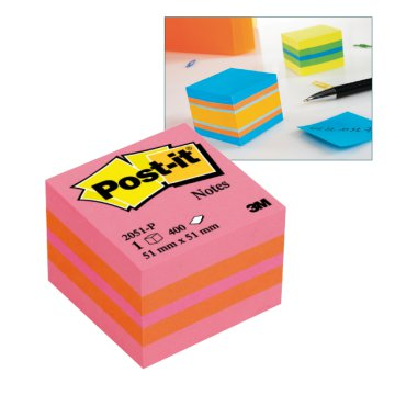 Post-it mini öntapadó kockatömb 51x51 mm