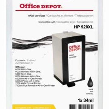 Office Depot HP CD975AE/920XL kompatibilis patron, fekete