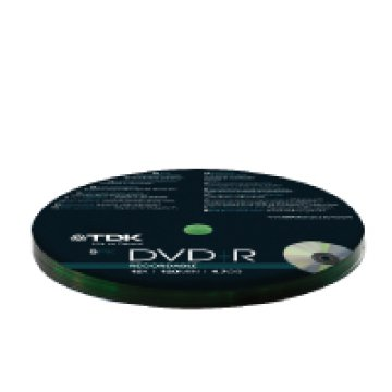 DVD+R TDK 4,7GB 16X 5db/cs, zsugoros
