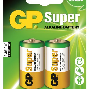 GP Super alkáli elem LR14 2 db/blister