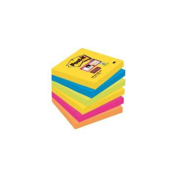 Post-it Super Sticky jegyzet tömb 76x76mm 6 tömb/csomag