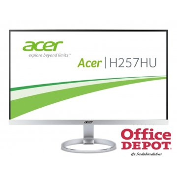 "Acer 25"" H257HUsmidpx IPS LED DVI HDMI DisplayPort multimédiás monitor"
