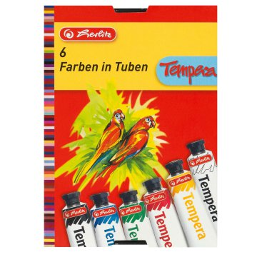 Herlitz tempera 6x16ml, 6 szín