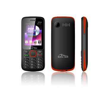 Media-Tech MT846 mobiltelefon Dual Phone HQ, fekete/piros