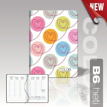 Agenda Color Flexi B6 heti