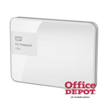 "Western Digital 2,5"" 1000GB külső USB3.0 fehér My Passport Ultra Brilliant White winchester"