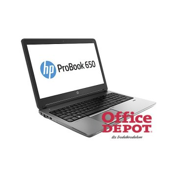 "HP ProBook 650 G1 P4T33EA 15,6""/Intel Core i3-4000M 2,4GHz/4GB/500GB/DVD író/Win10 Pro DG Win7 Pro fekete notebook"