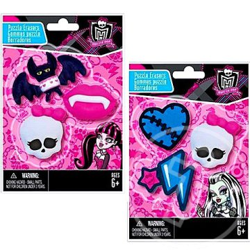 Monster High radír szett - Fashion Angels