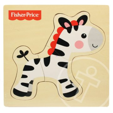 Fisher-Price állatos fa puzzle - zebra