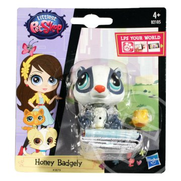 Littlest PetShop: 1 db-os készlet - Honey Badgely