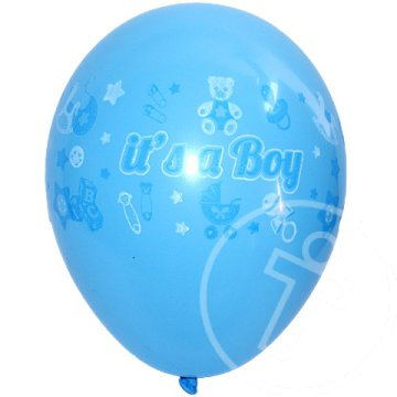 "Party lufi ""It''s a boy"" felirattal 25db 23cm"