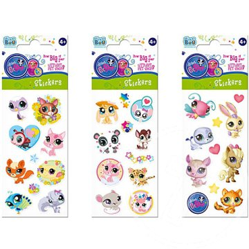 Littlest Pet Shop matrica 3 féle 66x180mm