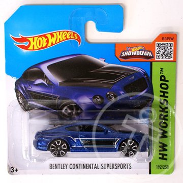 Hot Wheels: Bentley Continental Supersports kisautó 1/64 - Mattel