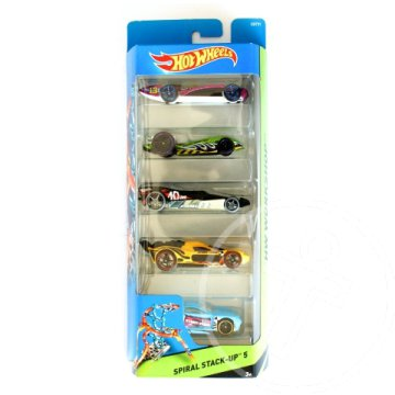 Hot Wheels: Spiral Stack-up 5db-os kisautó szett - Mattel