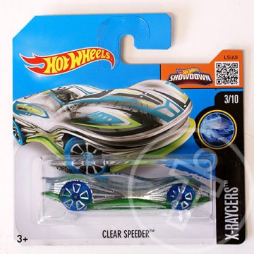 Hot Wheels: Clear Speeder kisautó 1/64 - Mattel