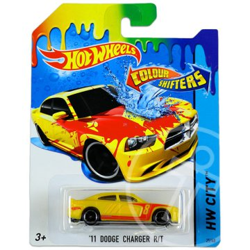 Hot Wheels City: színváltós 11 Dodge Charger RT kisautó 2