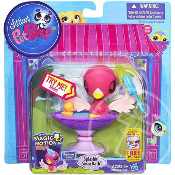 Littlest Pet Shop Magic Motion Pancsoló Hattyú mozgó figura - Hasbro