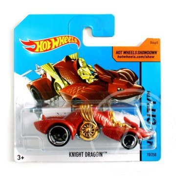 Hot Wheels: Knight Draggin'' kisautó 1/64 piros - Mattel