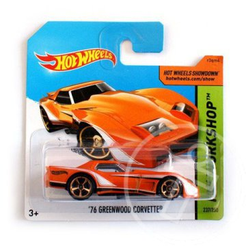 Hot Wheels: ''76 Greenwood Corvette kisauto 1/64 narancssárga - Mattel