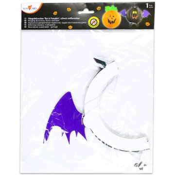 Halloween mini lampion - denevér, 36 cm
