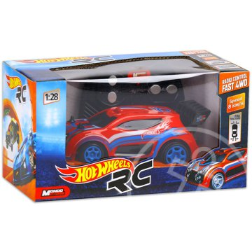 Hot Wheels: RC Fast 4WD - piros, 1:28