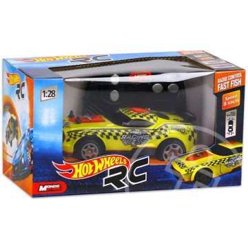 Hot Wheels: RC Fast Fish - sárga, 1:28