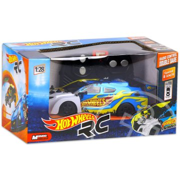 Hot Wheels: RC Double Dare - kék, 1:28