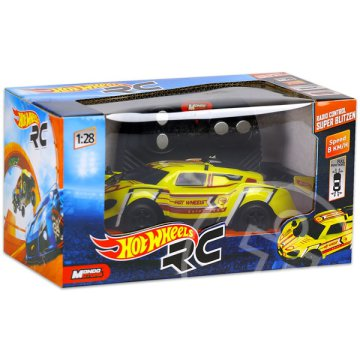 Hot Wheels: RC Super Blitzen - sárga, 1:28