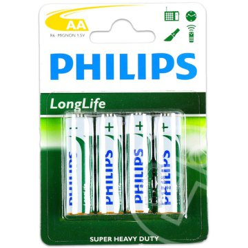 Philips: Long Life AA 1,5 voltos elem - 4 db