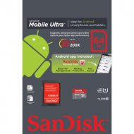 Sandisk microSD 64GB 80MB/s Ultra Android kártya CL10 UHSI