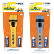 VARTA MINIONS LIGHT ELEMLÁMPA 2AA   1X5MM LED