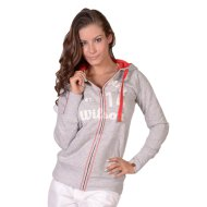 W FULL ZIP SWEATSHIRT CGREYHEA