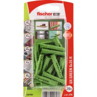 "DŰBEL 6X35MM 20 DB ""UX GREEN"" FISCHER"