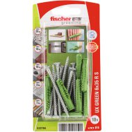 "DŰBEL 6X35MM 10 DB CSAVARRAL ""UX GREEN"" FISCHER"