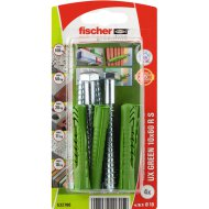 "DŰBEL 10X60MM 4 DB CSAVARRAL ""UX GREEN"" FISCHER"