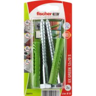 "DŰBEL 12X70MM 2 DB CSAVARRAL ""UX GREEN"" FISCHER"