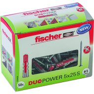 "DŰBEL 5X25MM 50 DB CSAVARRAL ""DUOPOWER"" FISCHER"
