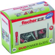 "DŰBEL 6X30MM 50 DB CSAVARRAL ""DUOPOWER"" FISCHER"