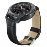 ET-YSA76MBEGWW Alligator Grain Leather Band - Black
