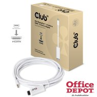 CLUB3D Mini Displayport - HDMI 2.0 3m adapter kábel