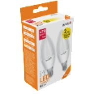 ABC14NW-6W-APTP LED Gyertya Twin Pack 6W E14 NW