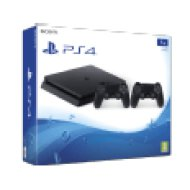 PlayStation 4 Slim 1TB + 2 Jet Black kontroller