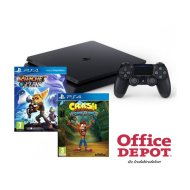 Sony PlayStation 4 500GB konzol D/EXP + Crash Bandicoot + Ratchet & Clank játékszoftverek