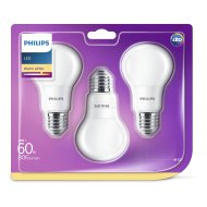 Philips LED Classic izzó 60W A60 E27 WW 230V 3db/cs