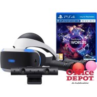 Sony PlayStation 4 VR 3D virtuális szemüveg + kamera + PS Move Twin Pack + VR Worlds