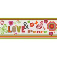 KIDS&TEENS BORD_R LOVE&PEACE 478501 24X500CM Outlet