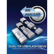 Dual magic flash 16GB pendrive fekete