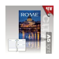 City by Night agenda A5 light Rome