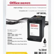 Office Depot HP CC654AE/901XL kompatibilis patron, fekete